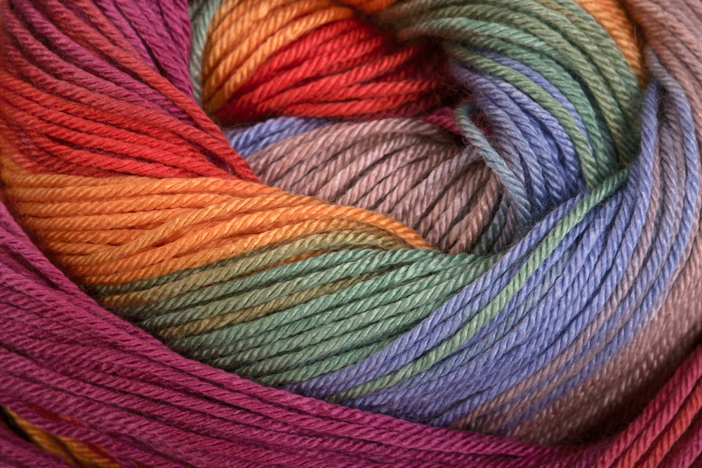 Colourful ball of wool