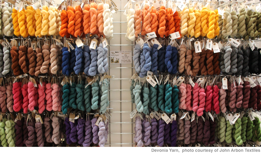 Coloured skeins of Devonia